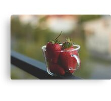 Strawberries in a cup Canvas Print