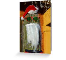 Santa Claus Christmas cactus Greeting Card