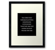 The First Step Framed Print
