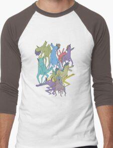 Horse on Horse on Horse Men's Baseball ¾ T-Shirt