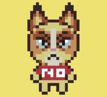 Grumpy Cat Animal Crossing Pixel One Piece - Short Sleeve