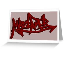 Graffiti Mazda MOB Greeting Card