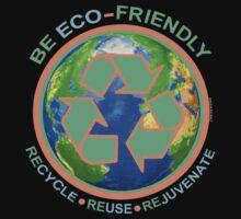 BE ECO-FRIENDLY: Recycle - Reuse - Rejuvenate (dark) One Piece - Short Sleeve