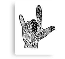 ASL Love Sign Language Hand  Canvas Print