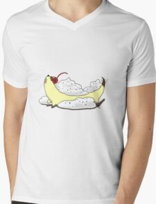 Banana Split dog  Mens V-Neck T-Shirt
