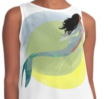 """Mer-made You Look"" Watercolor Merperson Contrast Tank"