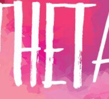 Theta watercolor Sticker