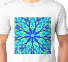 Mandala With Blue Aqua And Yellow Unisex T-Shirt