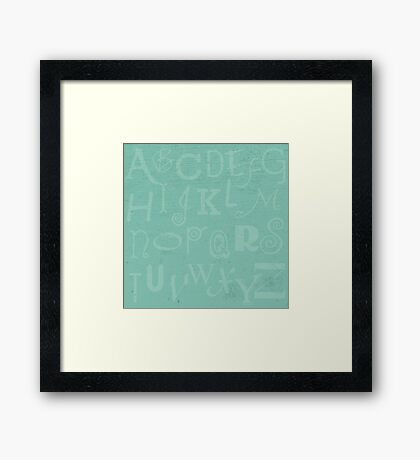 Mint Alphabet Framed Print