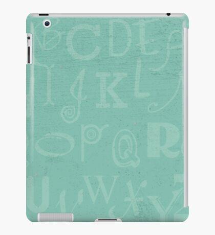 Mint Alphabet iPad Case/Skin