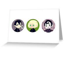 Yuu/Ren/Spinne Trio Greeting Card