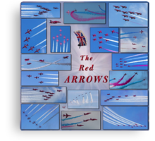 A Red Arrows Poster Canvas Print