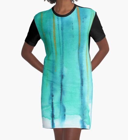 Beach Fence Graphic T-Shirt Dress