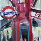 London Underground Covent Garden Tube Station Acrylic Painting by JamesPeart