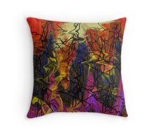Digital abstract expressionism Throw Pillow