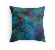 Greens and Blues Abstract pattern  Throw Pillow