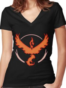 Team Valor | Pokemon GO Women's Fitted V-Neck T-Shirt
