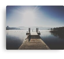 The Boat Ramp, Lake Wallace, Wallerawang Canvas Print