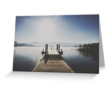 The Boat Ramp, Lake Wallace, Wallerawang Greeting Card