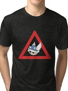 Danger Blue Shell Tri-blend T-Shirt