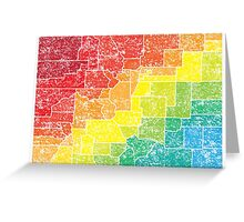 colorado color counties Greeting Card