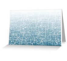 colorado counties fade Greeting Card