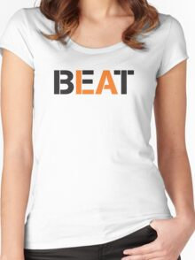 Beat LA (stencil style) Women's Fitted Scoop T-Shirt