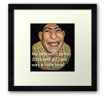 pin by dad Framed Print