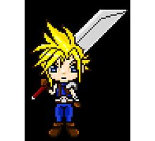 Cloud Strife Pixel Art Photographic Print