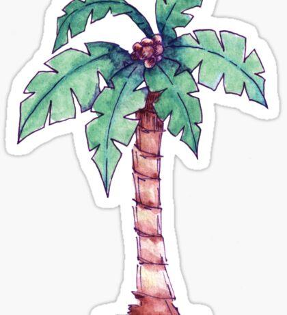 Palm Tree Watercolor Illustration Sticker Sticker