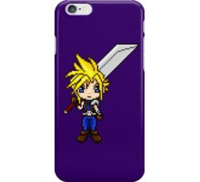 Cloud Strife Pixel Art iPhone Case/Skin