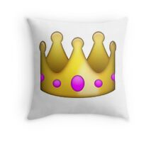 Crown emoji  Throw Pillow