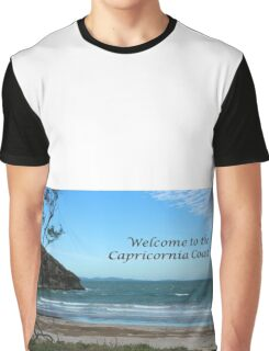 Windy Welcome to Capricornia Coast Graphic T-Shirt