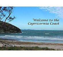 Windy Welcome to Capricornia Coast Photographic Print