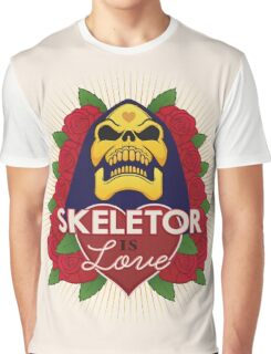 Skeletor is Love Graphic T-Shirt