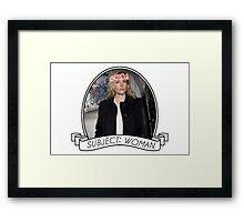 Gillian Anderson: Stella Gibson Series Framed Print
