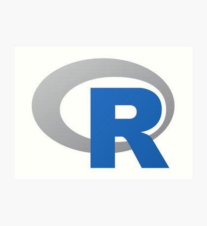 R Programming Language Art Print