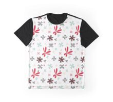 Retro Flower Pattern Graphic T-Shirt