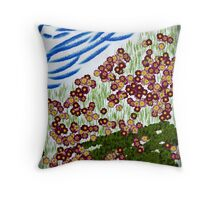 Flower Hill Throw Pillow