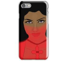 Woman with Violet Eyes iPhone Case/Skin