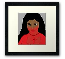 Woman with Violet Eyes Framed Print