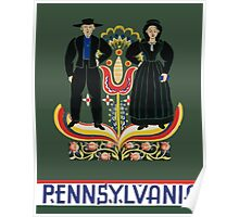 Pennsylvania USA Vintage Travel Poster Poster