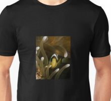 Clownfish Peeking Through Anemone Unisex T-Shirt