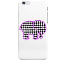 Houndstooth Elephant iPhone Case/Skin