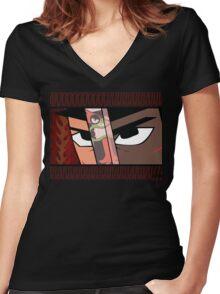 A Samurai named Jack Women's Fitted V-Neck T-Shirt
