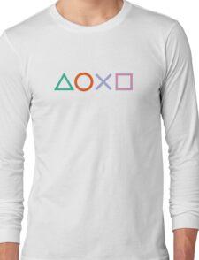 PS4 Controller Buttons Long Sleeve T-Shirt