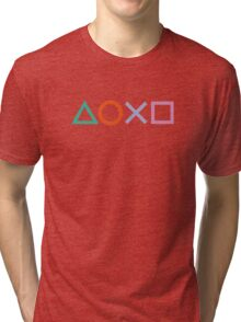 PS4 Controller Buttons Tri-blend T-Shirt