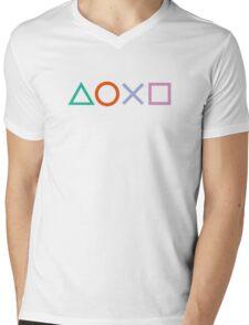 PS4 Controller Buttons Mens V-Neck T-Shirt