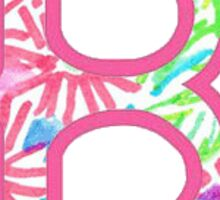 """Lilly Pulitzer Inspired Red Sox """"B"""" Sticker"""
