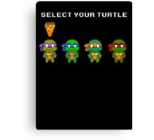 Select Your Turtle (Donatello) - TMNT Pixel Art Canvas Print